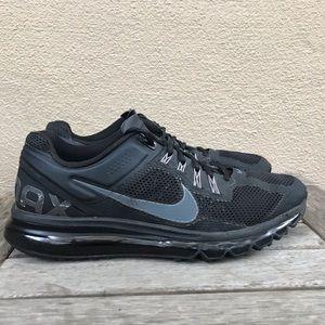 NIKE Air Max + 2013 Mens Running Black Shoes Sz 12